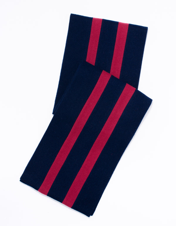 SCHOOLBOY MUFFLER - NAVY/RED