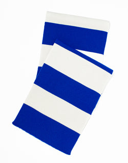 UNIVERSITY STRIPE MUFFLER - BLUE/WHITE
