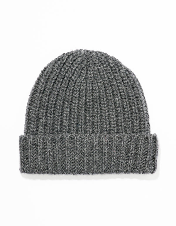 WOOL CASHMERE CAP - CHARCOAL