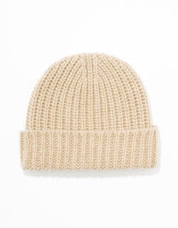 WOOL CASHMERE CAP - NATURAL