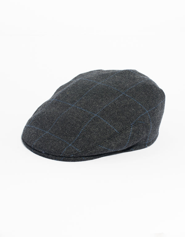 CHARCOAL WOOL IVY CAP