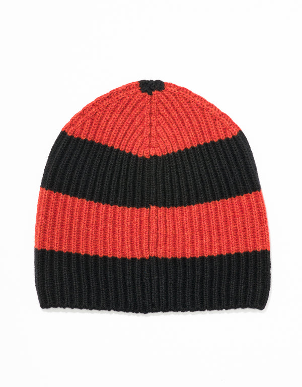 UNIVERSITY STRIPE HAT - BLACK/ORANGE