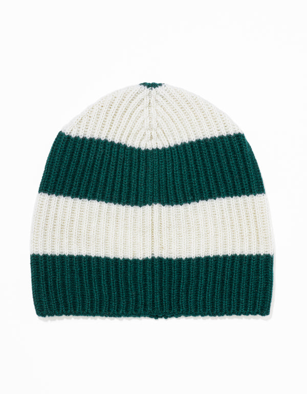 UNIVERSITY STRIPE HAT - GREEN/WHITE