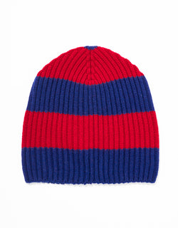 UNIVERSITY STRIPE HAT - NAVY/RED