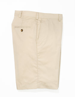 COTTON POPLIN SHORTS - LIGHT TAN