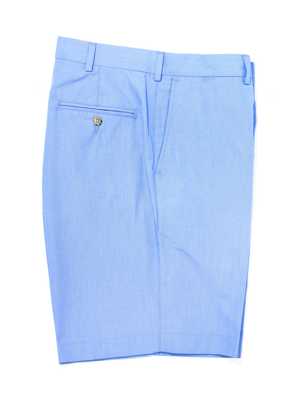 J. PRESS POPLIN SHORTS - BLUE MELANGE