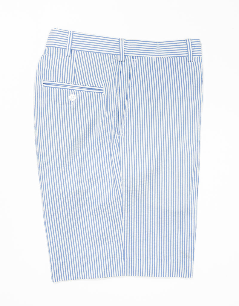 J. PRESS SEERSUCKER SHORTS - BLUE/WHITE