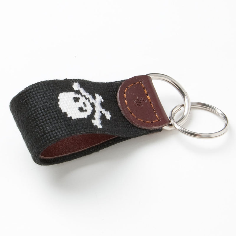JOLLY ROGER KEY FOB - BLACK