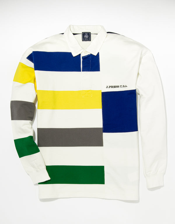 MULTI COLOR LONG SLEEVE FUN RUGBY SHIRT