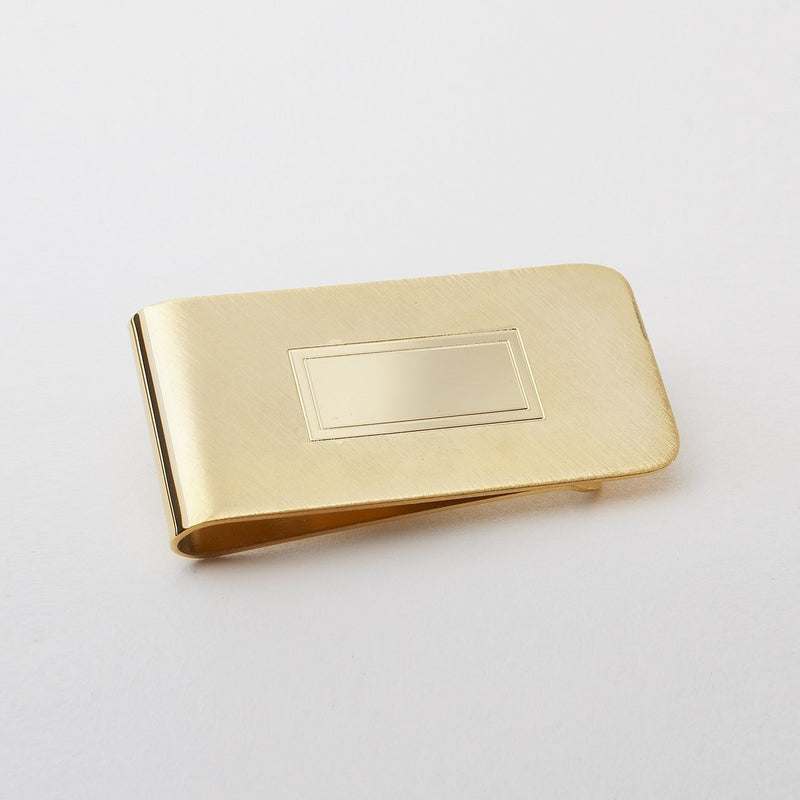 Money Clip Gold Rectangle