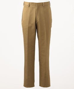 COTTON TWILL TROUSERS - TRIM FIT