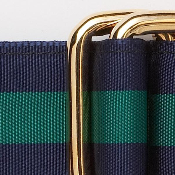 NAVY/KELLY GREEN RIBBON BELT