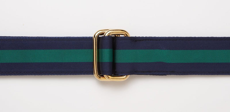 Men's Ribbon Belt in Navy/Green
