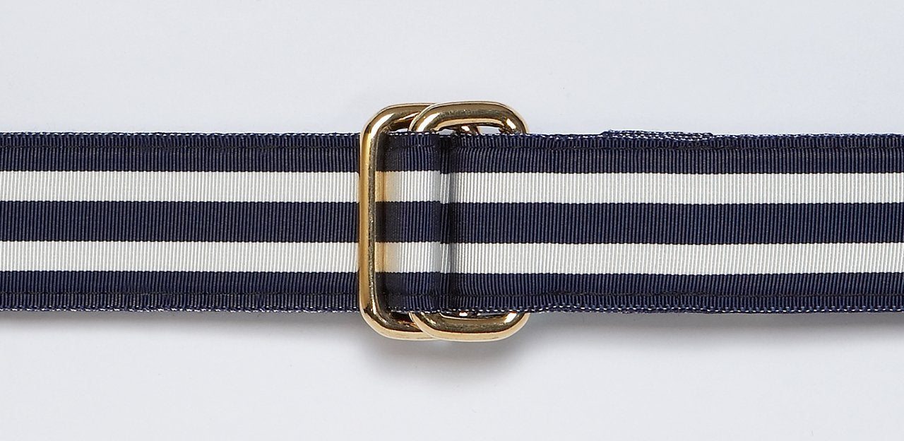 RIBBON BELT - NAVY/WHITE