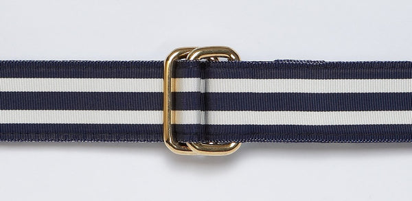 NAVY/WHITE RIBBON BELT