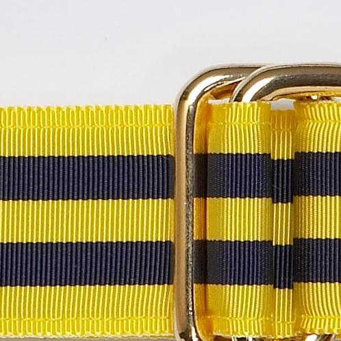 NAVY/YELLOW RIBBON BELT