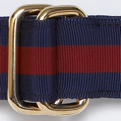 RIBBON BELT - NAVY/WINE
