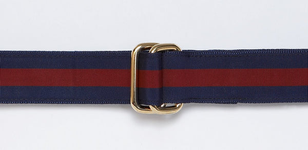 Ribbon Belt Wine/Navy
