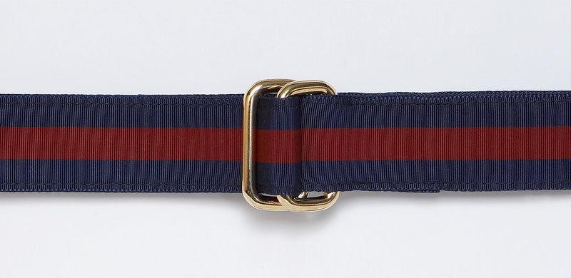 NAVY/WINE RIBBON BELT