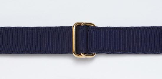 RIBBON BELT - NAVY