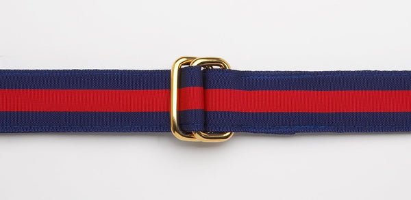 RIBBON BELT - NAVY/RED