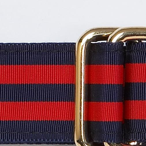 RIBBON BELT - NAVY / RED