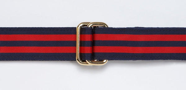 NAVY / RED RIBBON BELT