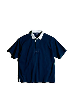 SHORT SLEEVE SOLID RUGBY SHIRT- NAVY