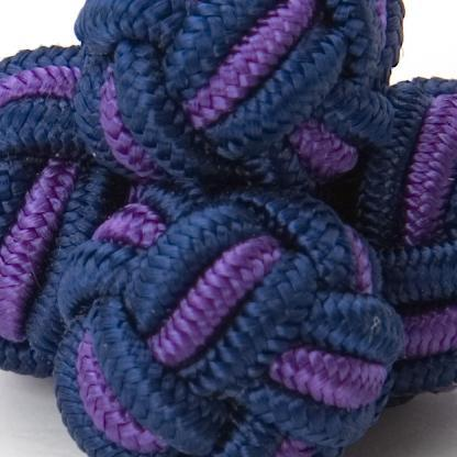 SILK KNOTS ROUND - NAVY/PURPLE