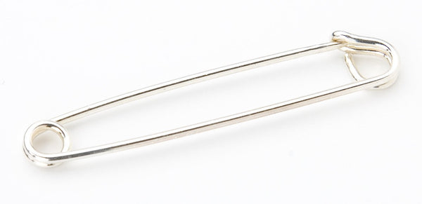 SAFETY PIN SILVER 2.25""
