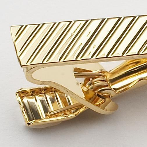 RIBBED CLIP ON TIE BAR