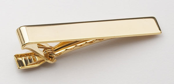 POLISHED CLIP ON TIE BAR
