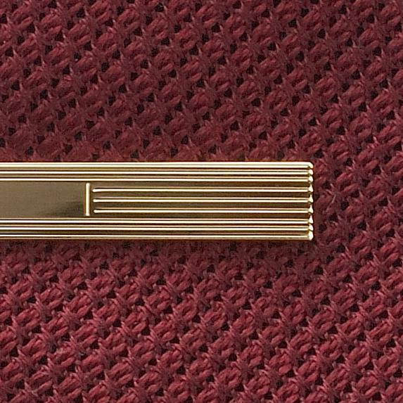 GOLD ETCHED TIE BAR