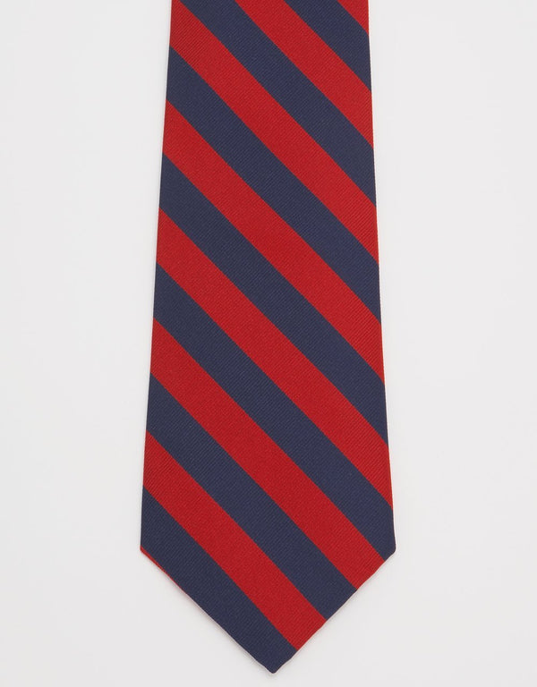REGIMENTAL TIE- NAVY / RED