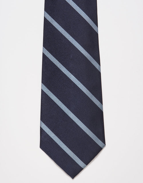REGIMENTAL TIE- NAVY/LIGHT BLUE