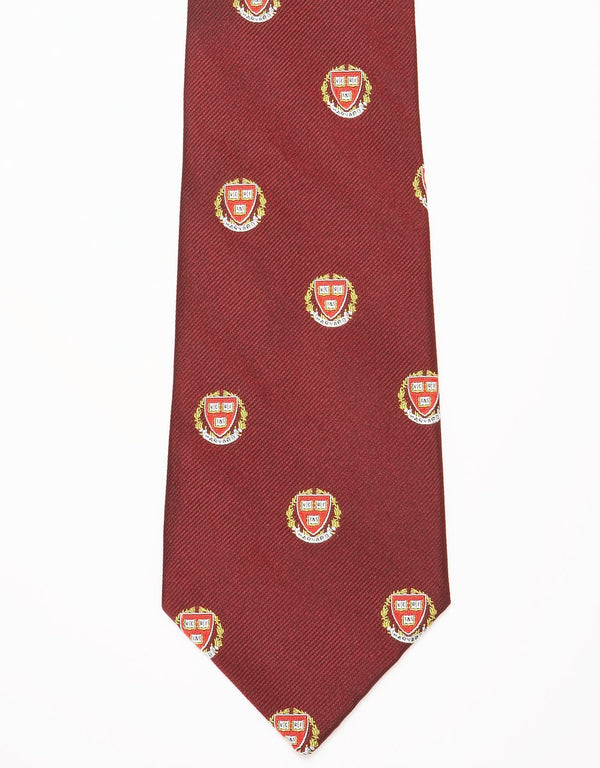 EMBLEMATIC SHIELD HARVARD TIE - BURGUNDY