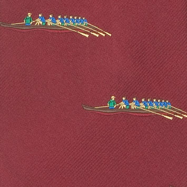 EMBLEMATIC ROWING CREW TIE - BURGUNDY