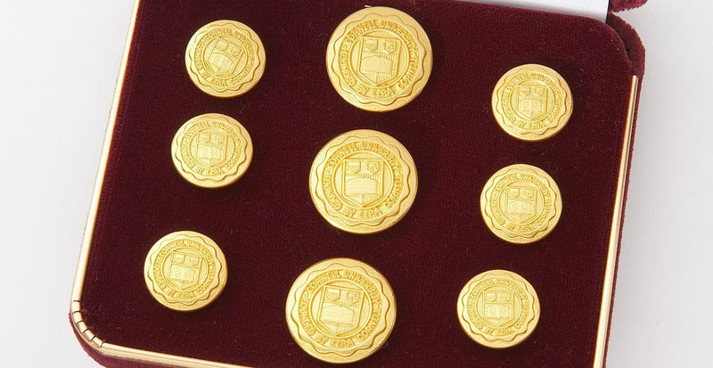 Cornell University Gold Buttons