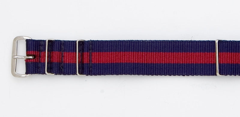 NAVY/BURGUNDY WATCHBAND