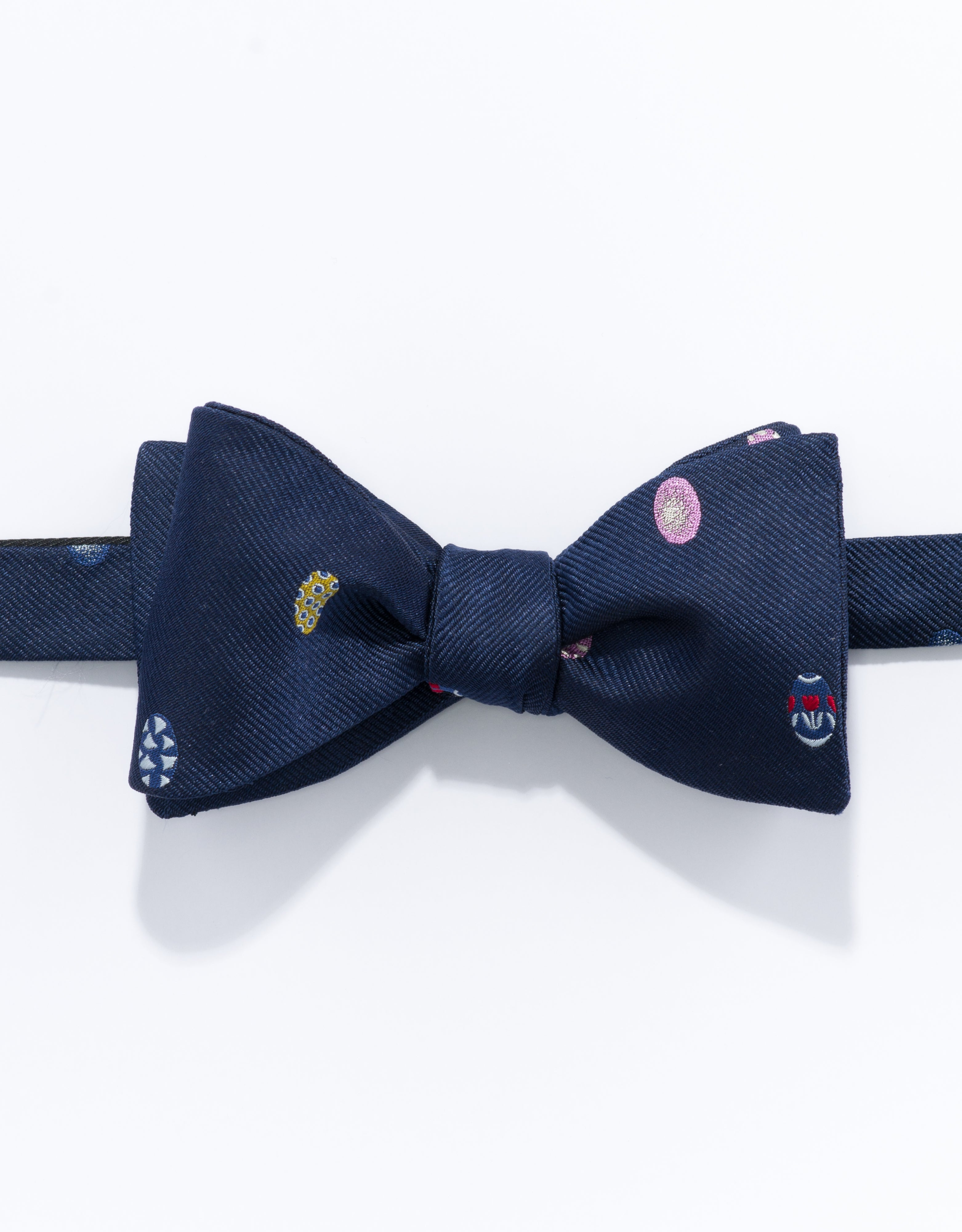 EMBLEMATIC EASTER EGG BOW TIE - NAVY