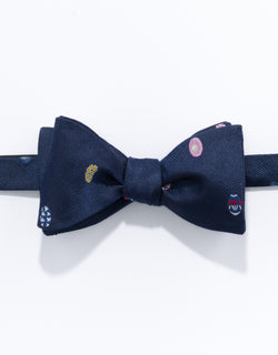 PRINTED EASTER EGG BOW TIE - NAVY