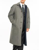 Grey Glen Check Reversible Coat