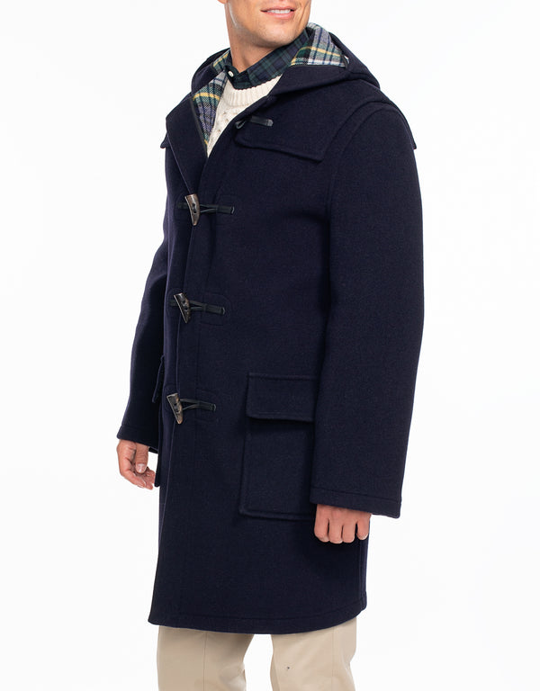 NAVY DUFFLE COAT