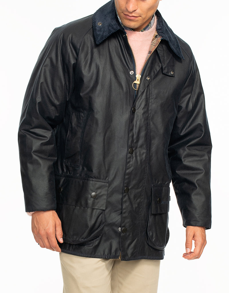 BARBOUR BEAUFORT® WAX JACKET - NAVY