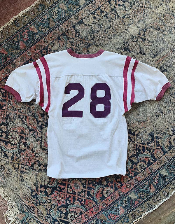 VINTAGE 28 JERSEY - WHITE/BURGUNDY - J. PRESS
