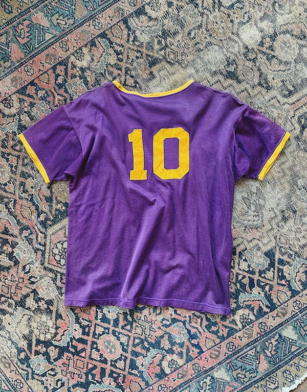 VINTAGE ARCANUM JERSEY - PURPLE/GOLD - J. PRESS