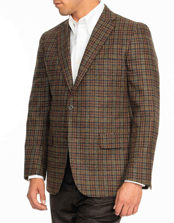 MULTI COLOR GLEN CHECK SPORT COAT - TRIM FIT