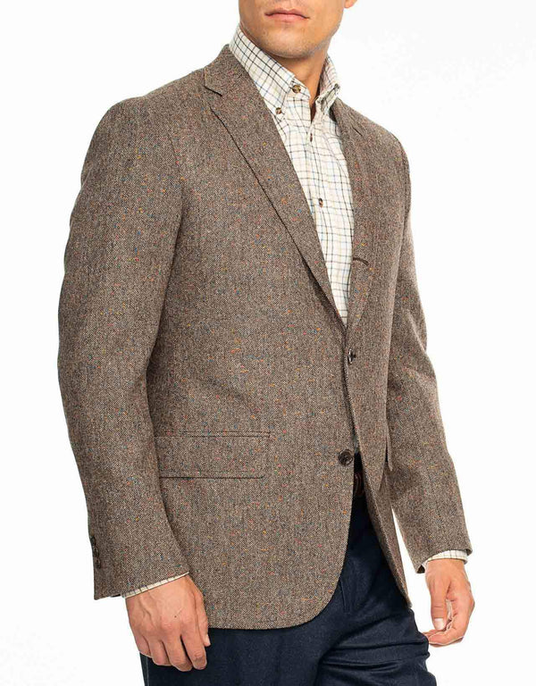 BROWN DONEGAL SPORT COAT - TRIM FIT