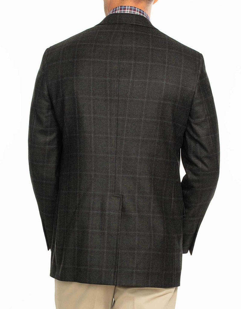 CHARCOAL MELANGE SPORT COAT - CLASSIC FIT