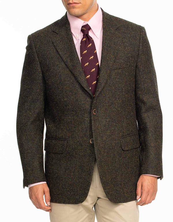 HARRIS TWEED DARK OLIVE SPORT COAT - CLASSIC FIT
